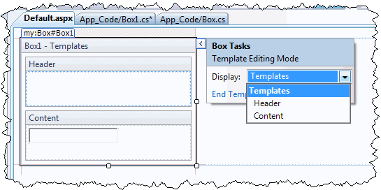 Template editor smart tag