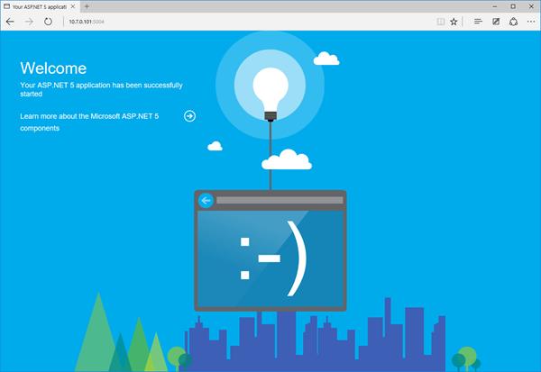 Ukázková stránka ASP.NET 5