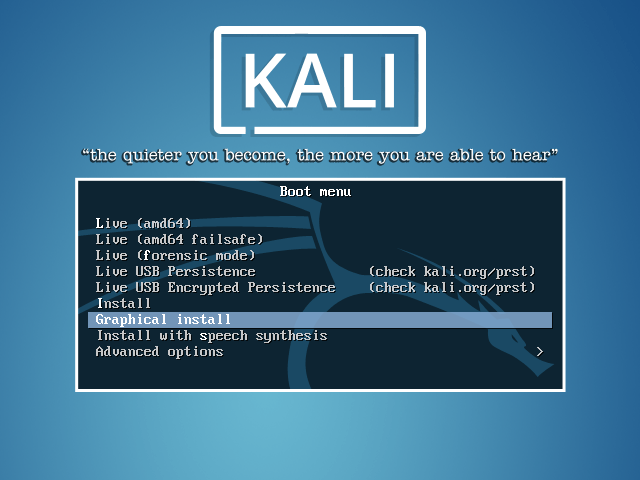 Kali Linux Boot Screen