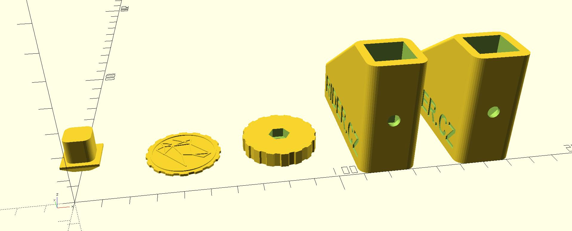 Sada 3D tištěných dílů