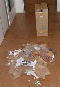 Množství odpadu vyprodukované během 48 hodin