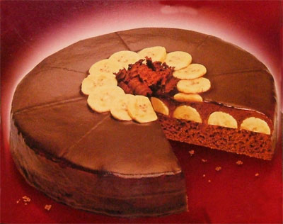 Obrázek dortu ofotografovaný z krabice